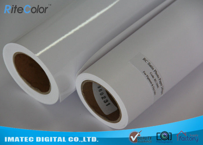 Inkjet Microporous Satin Finish Photo Paper , 260GSM Digital Printing RC Inkjet Photo Paper