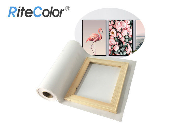 Large Format Polyester Canvas Rolls Aqueous Blank Matte Inkjet Printing
